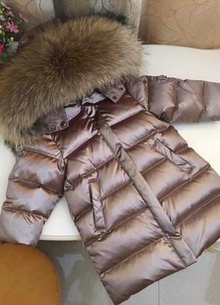 Зимний пуховик куртка liebei lb lie bei с густой натуральной опушкой