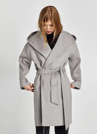 Пальто zara, шерсть
