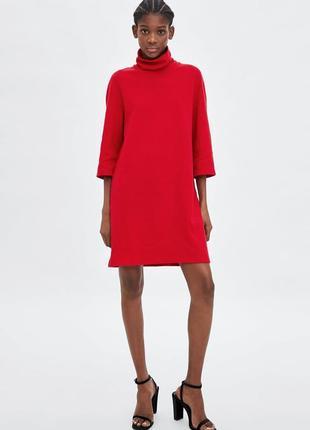 В наличии! яркое платье из плотного трикотажа от zara!