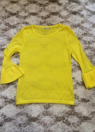 Фирменная яркая кофта stradivarius,кофточка в мелкую вязку,свитер,свитерок+подарок ремень