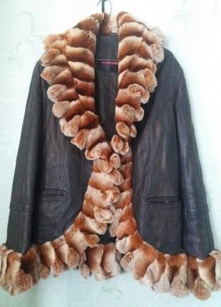 Куртка кожа шиншилла с-м