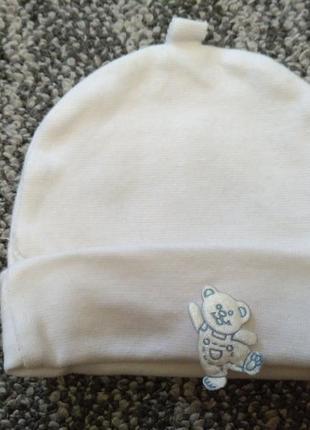 Хлопковая шапочка для новорожденных