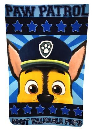 Флисовый плед щенячий патруль, paw patrol, disney, nickelodeon
