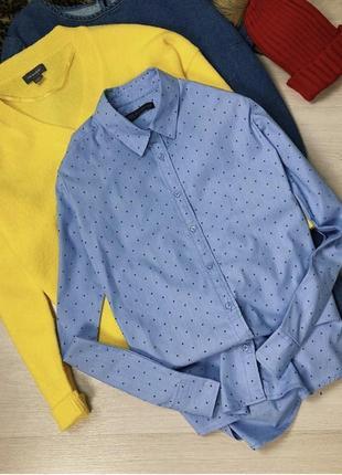 Голубая рубашка marks&spencer