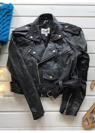 Натуральная кожаная куртка косуха 100%кожа базовая косуха