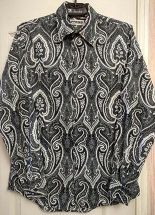 Легкая котоновая мужская рубашка express  р.с
