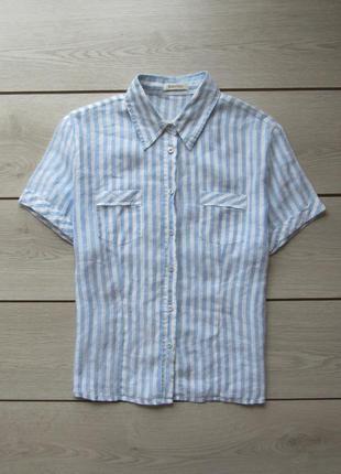 Полосатая рубашка в полоску оригинал от marco pecci р. s
