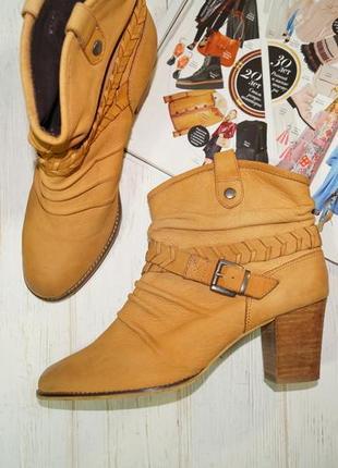 Manfield! кожа! комфортные красивые сапоги, ботинки, полусапожки