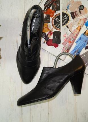 Zanos & zago! кожа! базовые ботильоны, туфли на устойчивом каблуке в классическом стиле