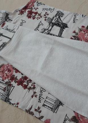 Комплект фартук с полотенце махра плотное турция