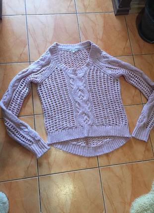 Ажурный свитер #4