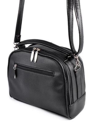 Маленькая сумка портфель с ручкой и ремешком через плечо кроссбоди4 фото
