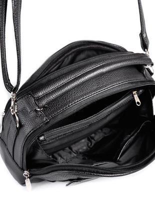 Маленькая сумка портфель с ручкой и ремешком через плечо кроссбоди6 фото