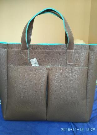 Стильная женская сумка из эко-кожи
