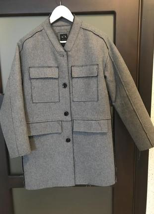 Крутейшее пальто armani exchange шерсть/ нейлон