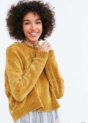 Велюровый свитер бархатный свитер синель primark тренд сезона в стиле bershka