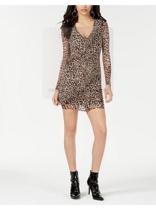Платье guess с леопардовым принтом