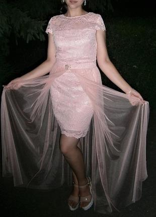 Нежное розовое платье-трансформер