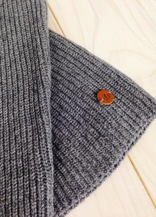 Серая вязаная кофта свитер с воротником стойка легкая вязка s.oliver by asos