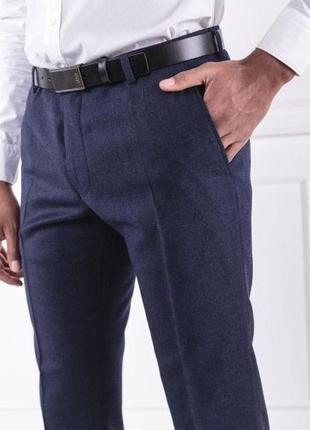 Синие шерстяные брюки/чиносы/штаны