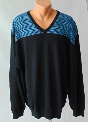 Тонкий свитер пуловер 3хл сток