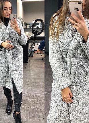 Зимнее пальто барашек на синтепоне оверсайз
