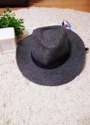 Шляпа h&m , женская шляпка,шляпка федора