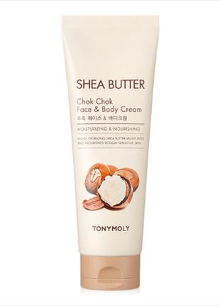 Крем с маслом ши для лица и тела tony moly shea butter chok chok face & body cream 250ml