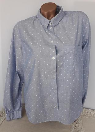 Классическая рубашка в мелкую полоску и горошек
