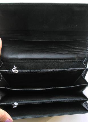 Большой кожаный кошелек крокодил fani, 100% натуральная кожа, есть доставка бесплатно4 фото