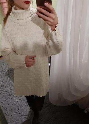 Крутое платье - свитер удлиненный  оверсайз