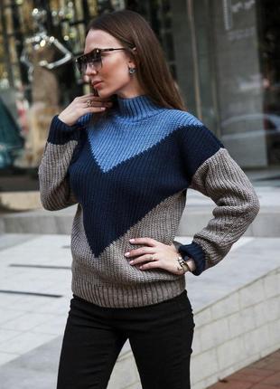 Стильный,объемный свитер.1