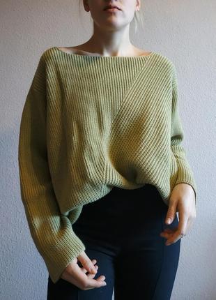 Шерстяной свитер кофта джемпер оверсайз
