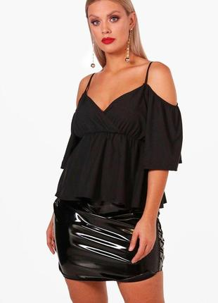 Блуза с открытыми плечами от boohoo