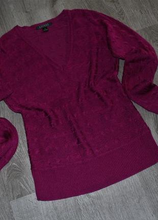 Кофта свитер джемпер v-образный вырез от ralph lauren s-m оригинал