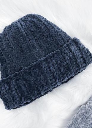 Найніжніші плюшеві шапулі \ нежные плюшевые велюровые бархатные шапки