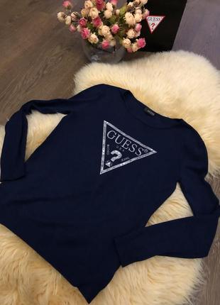 Пуловер guess тёмно синий, кофта, свитер3