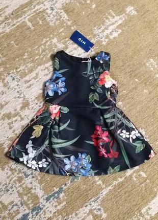 Платье цветочный принт на 2 года, новое!