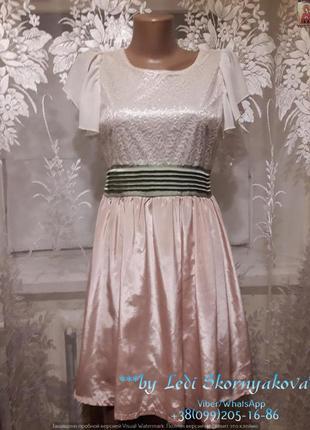 Красивое лёгкое нарядное платье/сарафан, размер с-м