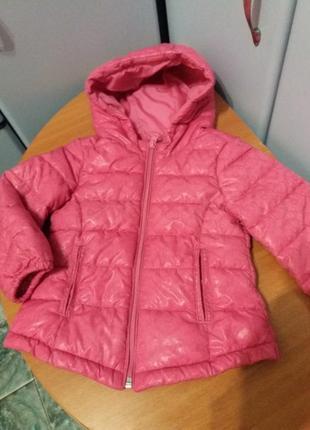 Пальто с капюшоном benetton на девочку 2 года