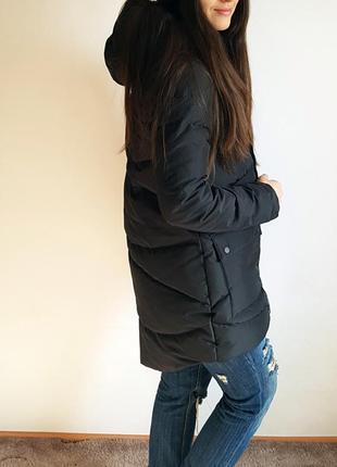 Пуховик черная теплая зима зимняя куртка лининг li-ning lining оригинал размер s-m