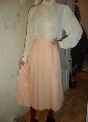 Шикарная теплая миди  юбка