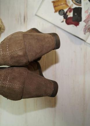 Face! замша! стильные ботинки, челси на удобной танкетке3