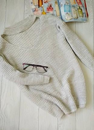 Теплый свитер с чокером от f&f.