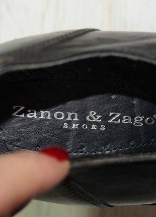 Zanos & zago! кожа! базовые ботильоны, туфли на устойчивом каблуке в классическом стиле5 фото