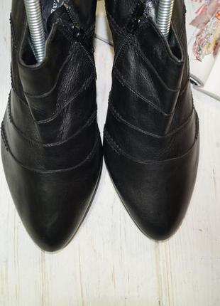 Zanos & zago! кожа! базовые ботильоны, туфли на устойчивом каблуке в классическом стиле4 фото