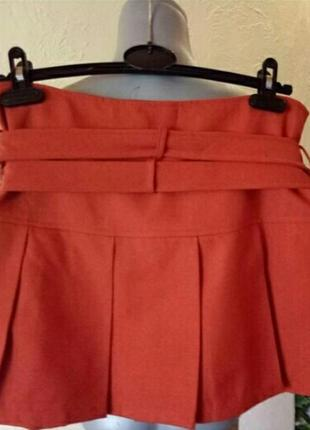 Оранжевый-тренд 2019!брендовая яркая юбка 44-46 р h&m2