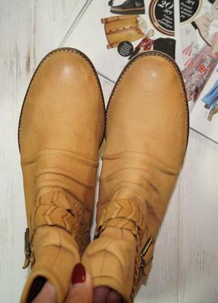 Manfield! кожа! комфортные красивые сапоги, ботинки, полусапожки5