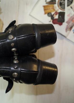 Fraipe! кожа! италия.  стильные ботинки с заклепками, полусапожки на удобном каблучке3