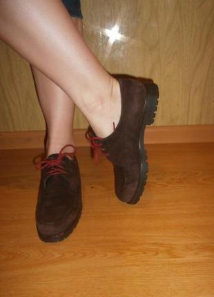 Стильные/мягусенькие ботиночки joy harper/нат.кожа/нат.замш/24,5 см